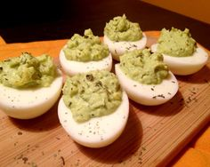Avocado Deviled Eggs #guacamole