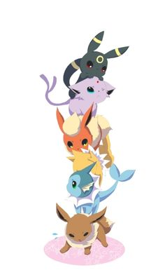 Missing Leafeon, Glaceon, and Sylveon. I don't think poor Eevee could handle them though.