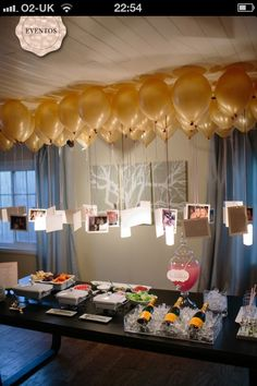 Balloons with hanging photos
