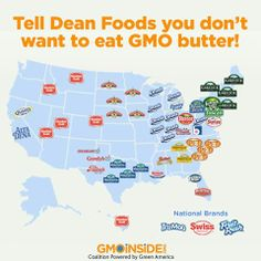 Tell Dean Foods you don't want to eat GMO butter! Take action here: http://gmoinside.org/take-action/tell-dean-foods-use-non-gmo-feed-cows