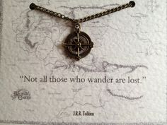 Tolkien Quote Necklace - 'Not all those who wander are lost' Lord of the Rings.