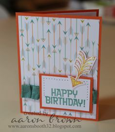Booth #32: Happy Birthday Card (National Scrapbooking Month Special)