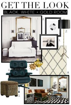 Get The Look: Black, White And Gold Room