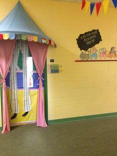 Circus theme classroom door