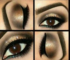 Chocolate and gold smokey eye