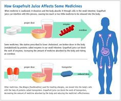 Did You Know? Grapefruit juice and fresh grapefruit can interfere with the action of some prescription drugs, as well as a few non-prescription drugs. Check out this link to get more info via fda.gov