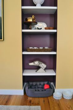 7 Ideas to Steal from the Boston Magazine Design Home: 3. Create a space to stash your pet's stuff