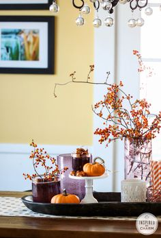 Tips for Styling the Perfect Fall Centerpiece | Inspired by Charm
