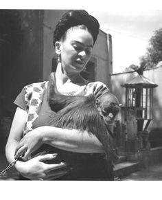 Frida and her monkey