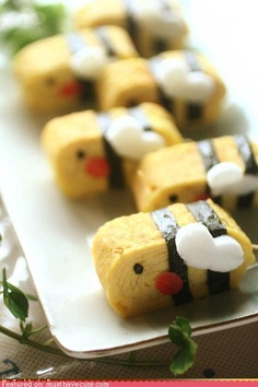 Bento Idea: Tamagoyaki Egg Omelete Bee