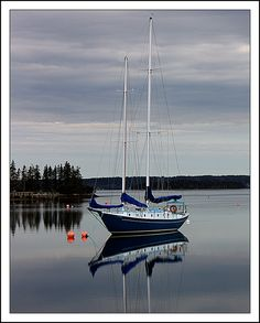 Sailboat in Back Harbour by Iguanasan, via Flickr