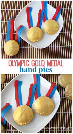 Olympic Gold Medal Hand Pies   crazyforcrust.com   The perfect way to celebrate for the Olympics!