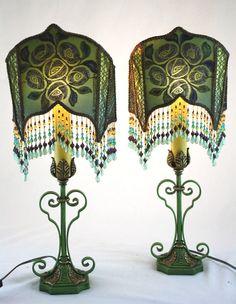1920s Pair Art Deco Lamps