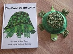 Eric Carle inspired turtle