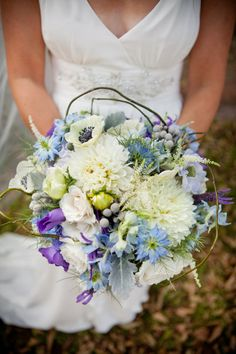 #Blue #bouquet … Wedding #ideas for brides, grooms, parents & planners https://itunes.apple.com/us/app/the-gold-wedding-planner/id498112599?ls=1=8 … plus how to organise an entire wedding, within ANY budget ♥ The Gold Wedding Planner iPhone #App ♥ For more inspiration http://pinterest.com/groomsandbrides/boards/  #powder #baby #pastel #Tiffany #pale #royal #sky #teal #turquoise #aqua #blue #navy #bouquets