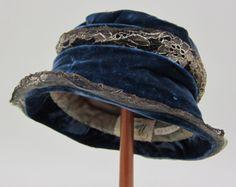 cloch hat, blue velvet, visual arts, 1920s fashion, vintag hat, 1920 edwardian, 1920s1930s style, cloche hats, blues