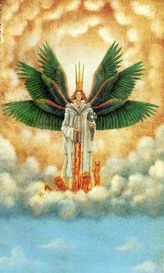 Metatrón, príncipe de los Serafines  Esta palabra se le aplica a los espíritus que están más cerca de Dios, sirviéndole con mayor ardor. La función básica de los Serafines es amar y adorar a Dios sin detenerse jamás, engrandeciendo el amor universal. Son espíritus celestiales completamente inflamados en el Amor Divino. Son ángeles que se encuentran en el más alto plano celestial, los que más cerca de Dios están.
