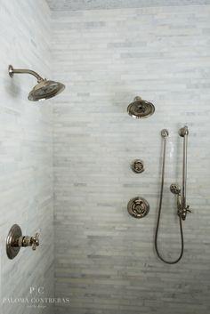 Shower Detail | Paloma Contreras Design via La Dolce Vita