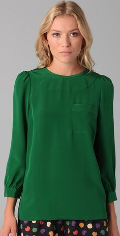 marc jacobs blouse in the PERFECT green