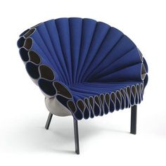 ruffl chair, decor, blue chair, chairs