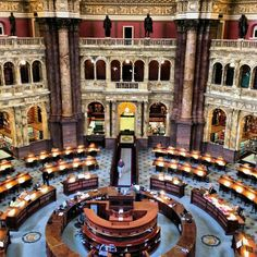 The Library of Congress is actually comprised of three buildings, which contain about 21 million books, among other manuscripts, sound recordings, maps and photographs. The most famous building in the trio is the Thomas Jefferson Building, which was raised in 1897 and holds one of the Gutenberg Bibles, among other exhibits.