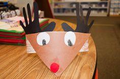 Reindeer Hats by Mrs. Ricca's Kindergarten: Christmas Crafts & Freebies!