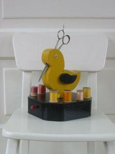 Vintage Bird Sewing Caddy