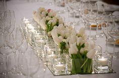 Addobbi floreali per la tavola