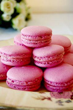 Pink macaroons.