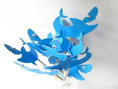 Shark Cupcake Toppers Qty 12 by sunshowerstuff on Etsy, $4.50