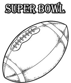 The Ball Of Super Bowl Coloring Pages