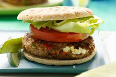 South Beach Diet Inside-Out Spiced Cheeseburgers