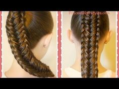 Trenza de espiga con borde trenzado - Peinados Magazine