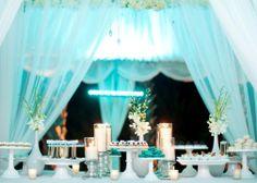 Mini Desserts | Petite Desserts | Dessert Bars and Buffets--- Aqua Blue  Tiffany Blue      #wedding  #dessertbar
