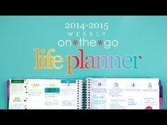 Erin Condren 2014/15 Life Planner - YouTube  #eclifeplanner14