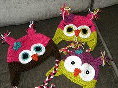 Free Crochet Owl Hat Pattern.