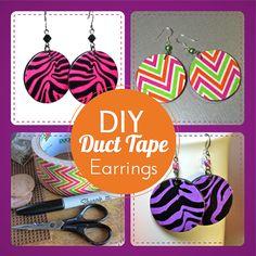 BluKatKraft: #DIY Duct Tape Earrings