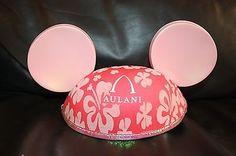 NEW Disney AULANI Pink Mickey Minnie Ears Hat HAWAII EXCLUSIVE