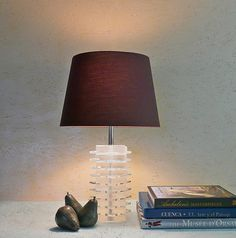 Vintage Modern Stacked Acrylic Table Lamp  by LiseVintageLighting, $195.00