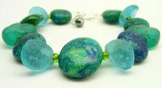 Blue Sea Bracelet by Tina Holden