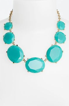 great statement necklace in turquoise