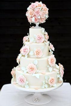 Golborne Events: Stylish, Relaxed, Romantic......Marquee Barn Wedding at Rumbolds Farm Cake by Peggy Porschen www.peggyporschen.com