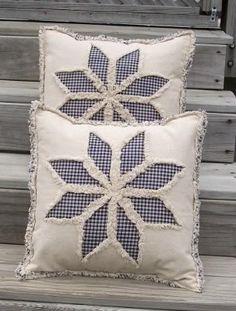 rag quilt pillow