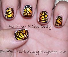 I just thought these monarch butterfly nails were awesome! You can probably #crochet a pattern just like it.