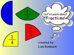 Intro to Fractions Math SmartBoard Lesson Primary Grades (.notebook file) $