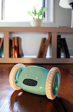 An alarm clock that runs away from you until you chase it down and stop the alarm. I need this!!!