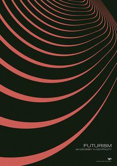 Futurism - An Odyssey in Continuity #simon #page #grafica #poster #geometrico #vintage #futurismo