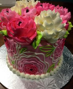 Buttercream peonies (Cakes)