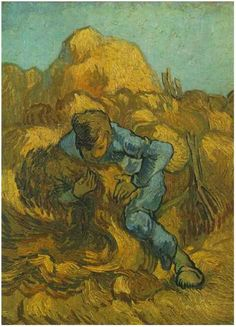 Sheaf-Binder, The (after Millet) by Vincent Van Gogh Painting, Oil on Canvas Saint-Rémy: September, 1889