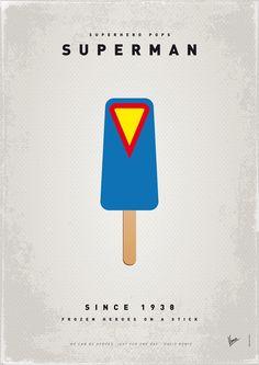 Superman Ice Lollies